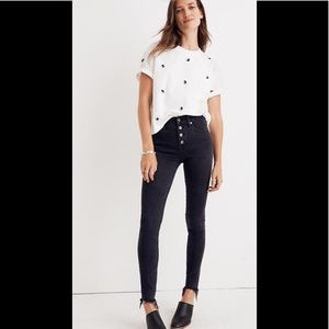 """NEW Madewell 9"""" Mid Rise skinny jeans button 28"""